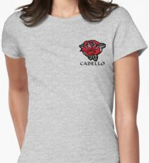 Cabello Rose Women's Fitted T-Shirt