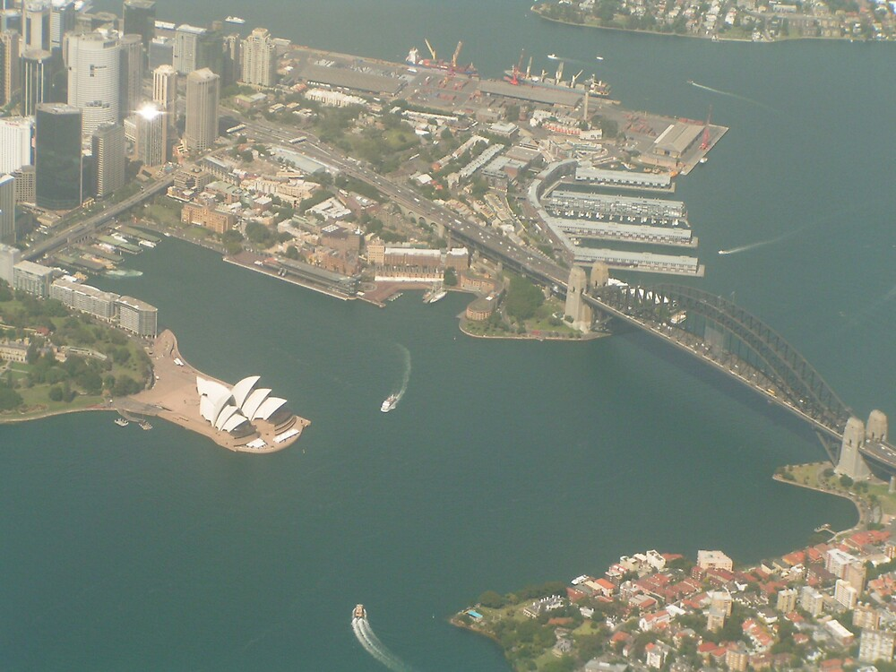 Sydney - aerial view by sweetcorn