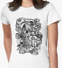 distraction Womens Fitted T-Shirt