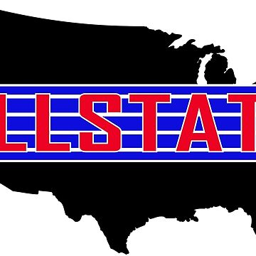 Allstate Style Sticker - Red, Blue and White by ScooterStreet