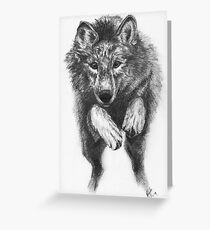 Running Wolf Greeting Card
