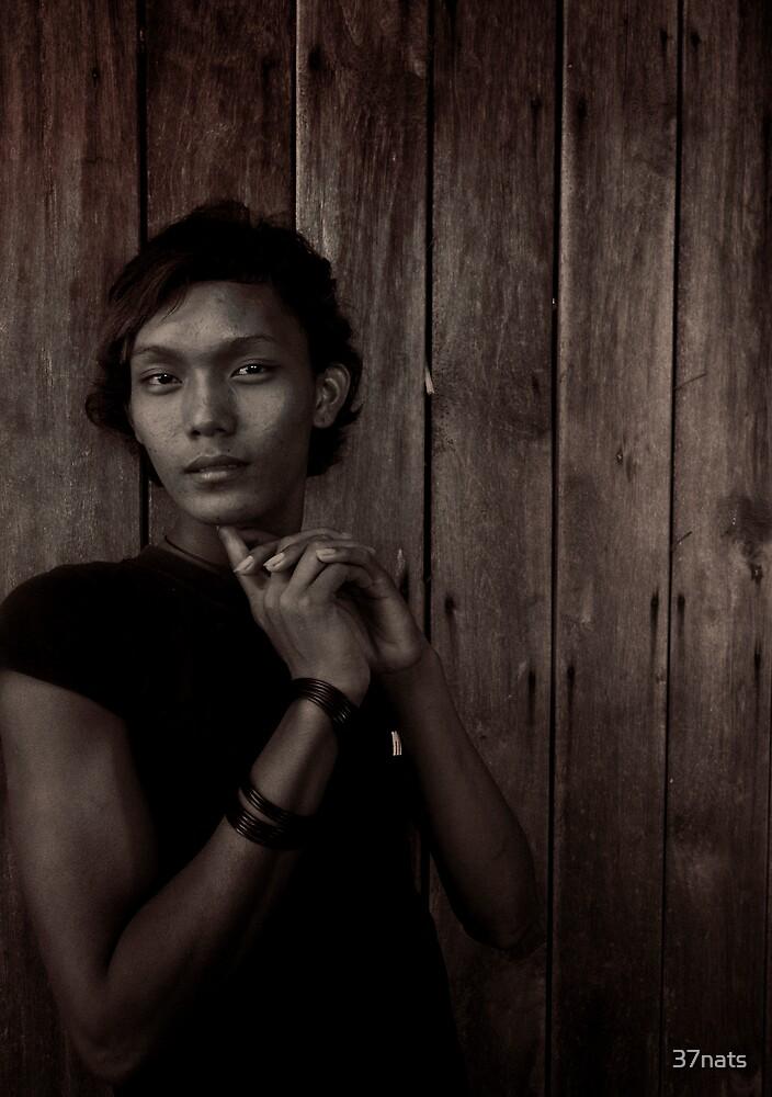 Transgender Portrait taken  in Burma/Myanmar - November 2008. by 37nats