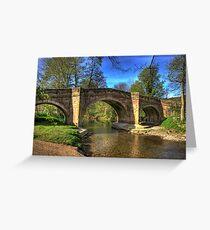 The Bridge near Scawton,North Yorkshire Greeting Card