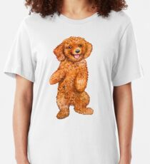 POODLE RED Slim Fit T-Shirt