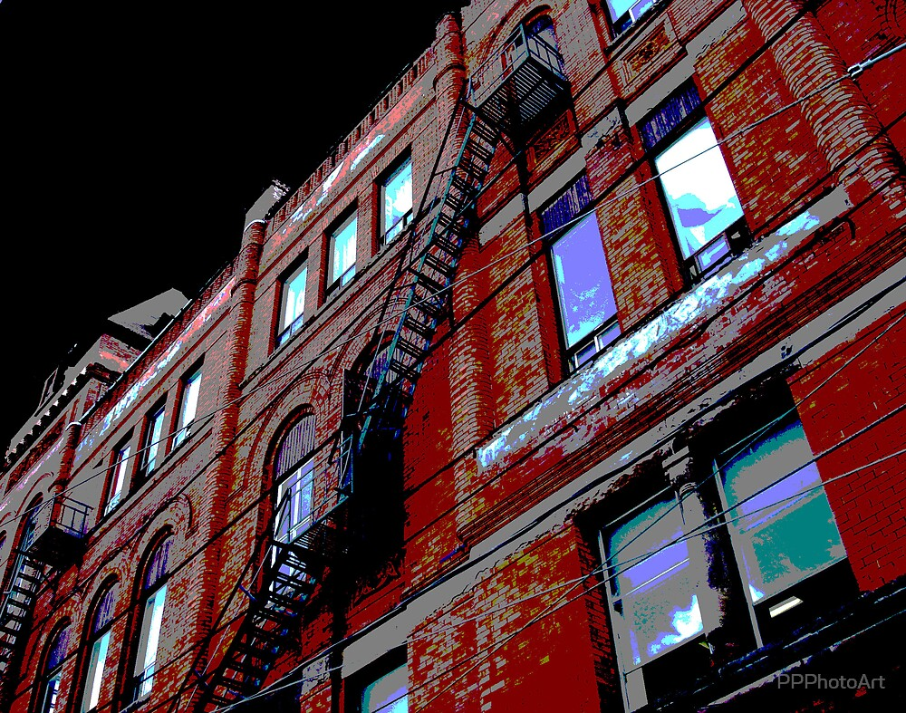Broadview Hotel Fire Escape by PPPhotoArt