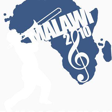 MUSICATHON Tshirt Blue by MusicForMalawi