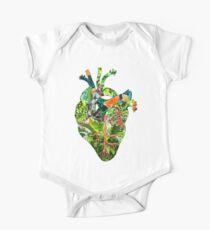 Botanical Heart Green One Piece - Short Sleeve