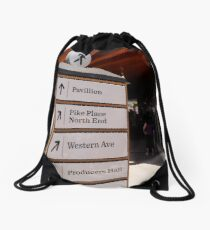 through the market Drawstring Bag