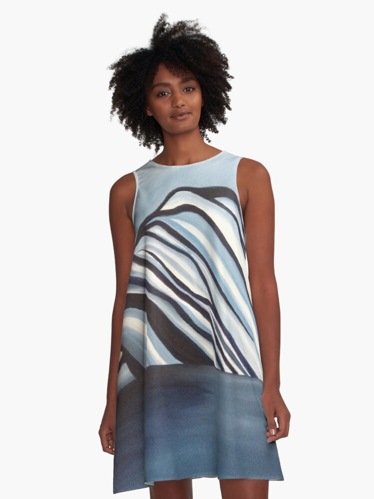 Ice Berg 7  A-Line Dress Front