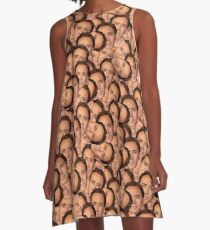 Nicolas Cage texture (for all your cage needs) A-Line Dress