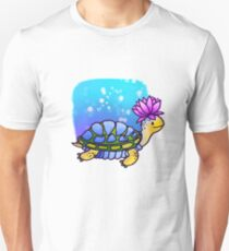 Turtle with lotus flower Unisex T-Shirt