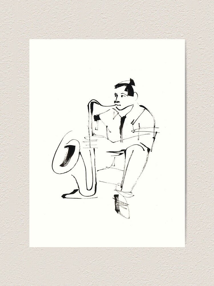 Alternate view of Saxophone Player Musician Art Print