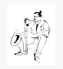 Saxophone Player Musician Photographic Print