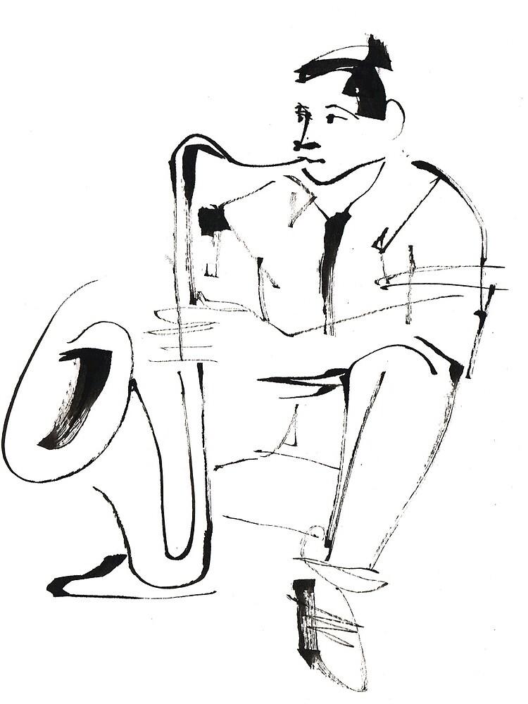 Saxophone Player Musician by CatarinaGarcia