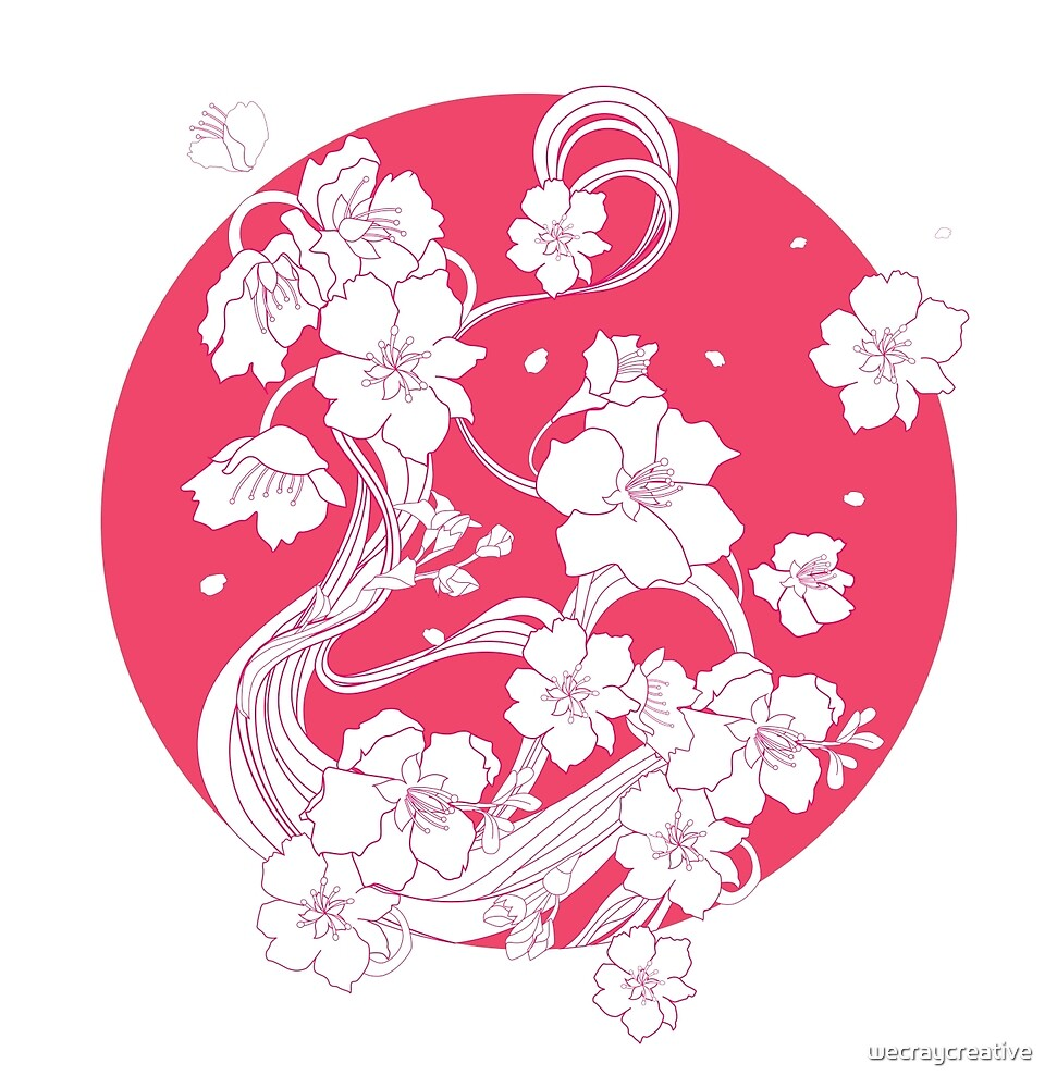 Beautiful Cherry Blossom Pattern by wecraycreative