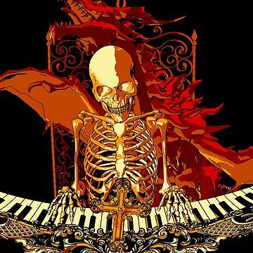skeleton gold by lmilustraciones