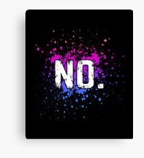 NO Funny Bar Drinking Party Gift Canvas Print