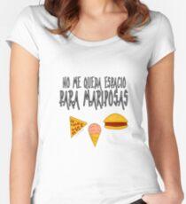 COMIDA ANTES QUE MARIPOSAS Camiseta entallada de cuello ancho