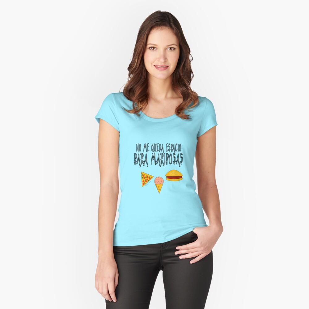 COMIDA ANTES QUE MARIPOSAS Camiseta entallada de cuello redondo
