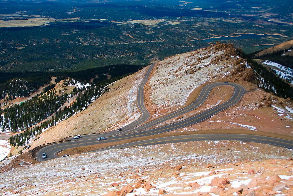 A view down from Pike's Peak, Colorado by polymerique
