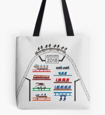 ICONIC Rollercoaster 2018 Launch! - Blackpool Pleasure Beach Coaster Cars (Unofficial) Tote Bag