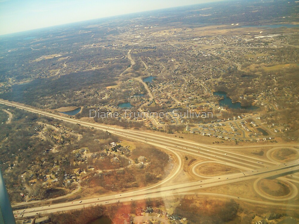 Minneapolis View from above by Diane Trummer Sullivan