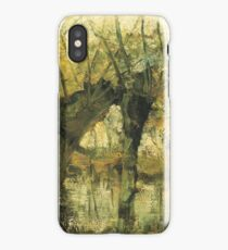HD Willow Grove Impression of Light and Shadow, by Piet Mondrian - 1905 HIGH DEFINITION iPhone Case