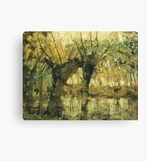 HD Willow Grove Impression of Light and Shadow, by Piet Mondrian - 1905 HIGH DEFINITION Canvas Print