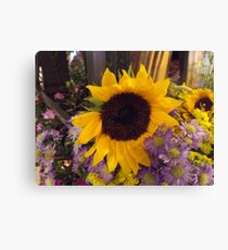 Colorful Flowers, New York City Canvas Print