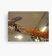 Colorful Flower Display, New York City Canvas Print