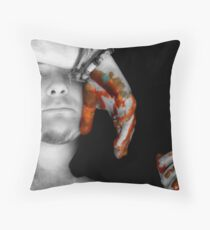 Painted Hands Throw Pillow