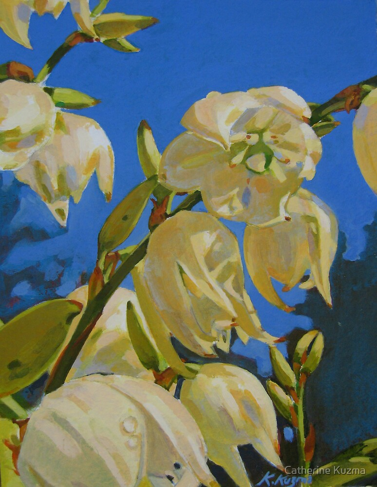 Yucca In Bloom by Catherine Kuzma