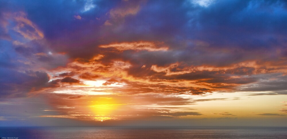a spectacular sunrise by Andrea Rapisarda