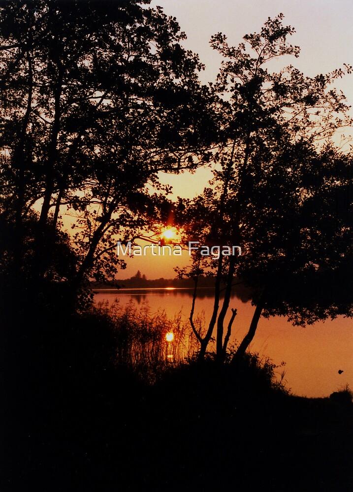 Sunset Lake by Martina Fagan