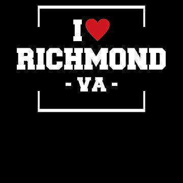 I Love Richmond  Shirt - Virginia T-Shirt by JkLxCo
