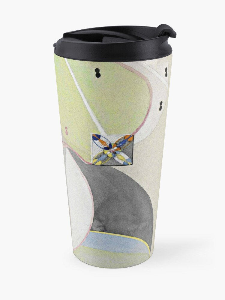 Alternate view of HD Tree of Knowledge No. 5, by Hilma af Klint 1907 HIGH DEFINITION Travel Mug