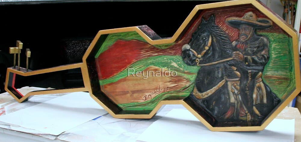 Charro Negro Guitar Sculpture  by Reynaldo