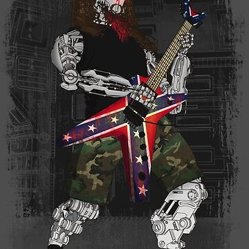 god of metal by lmilustraciones