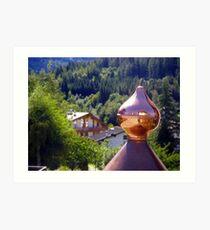 Copper reflections Art Print