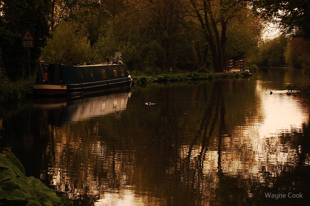 Canal Boat by Wayne Cook