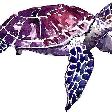 Watercolor Sea turtle sticker by katherineshek