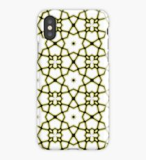 Abstract repeating ornate geometric luxury pattern iPhone Case