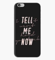 "The Rose ""Baby"" Lyrics - Black iPhone Case"