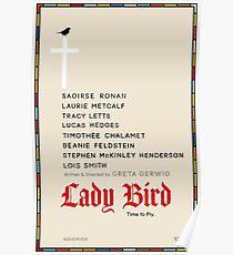 Minimalist Lady Bird Poster Poster