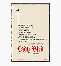 Minimalist Lady Bird Poster Photographic Print