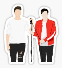 Dan and Phil Interactive Introverts Silhouette Sticker
