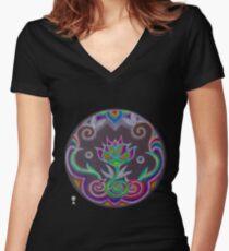#50 Women's Fitted V-Neck T-Shirt