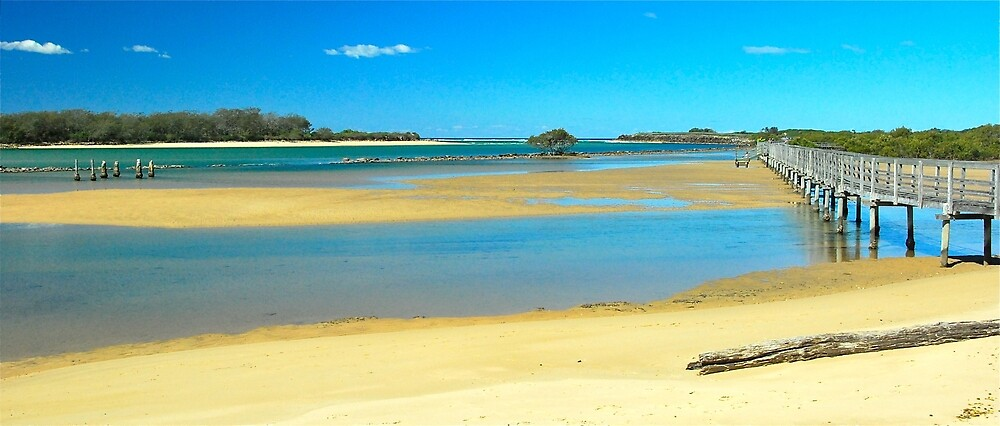 Urunga at Low Tide by Penny Smith