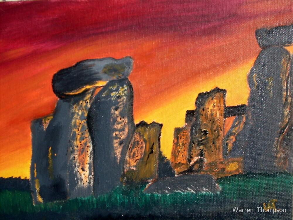 Stonehendge Sunrise by Warren  Thompson