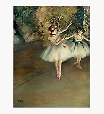 Two Dancers on a Stage Photographic Print